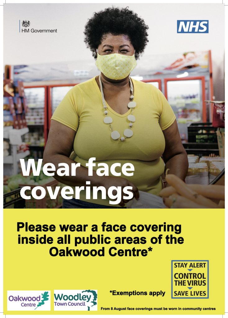face coverings at community centres