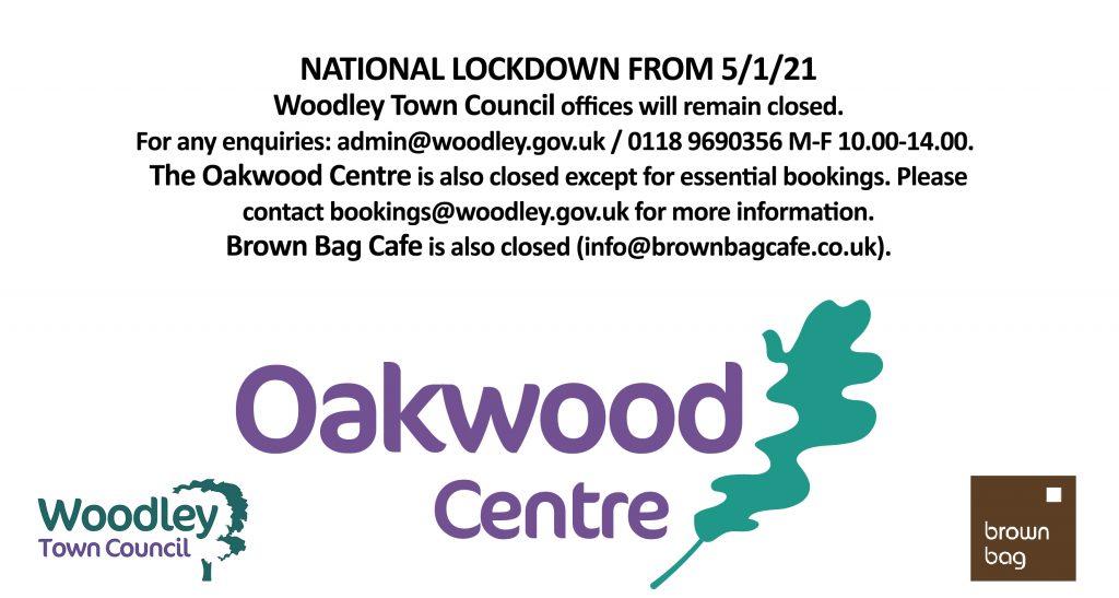 oakwood centre closed national lockdown 3