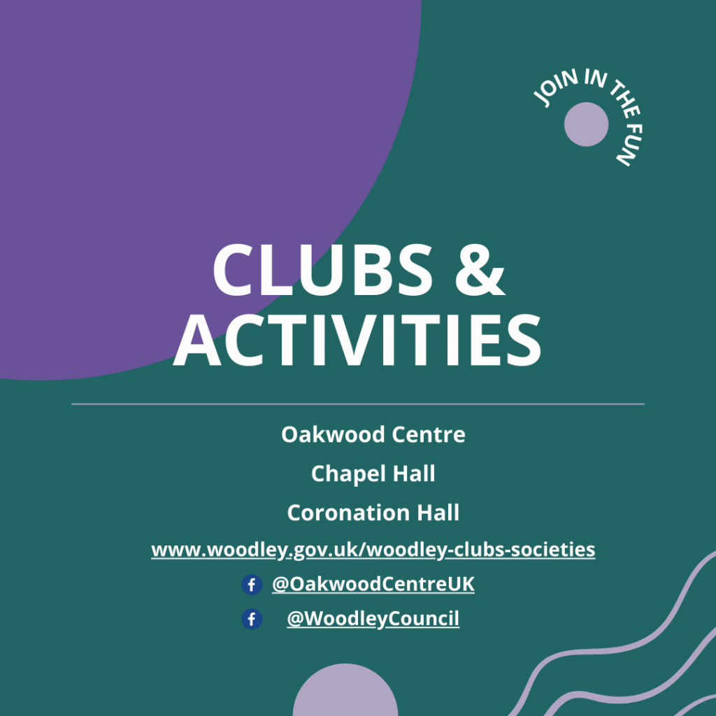 clubs and activities Oakwood Centre woodley